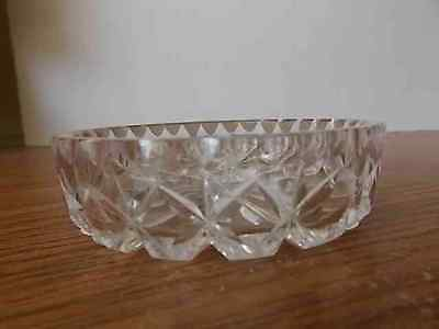 Vintage Antique Collectable Retro Crystal Diamond Pattern Ring Dish