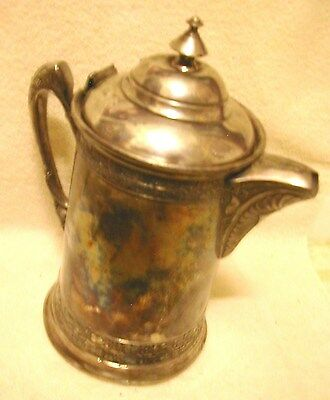 Poole Silver Company Insulated Water/Ice Pitcher Server Quadruple Silver Plate