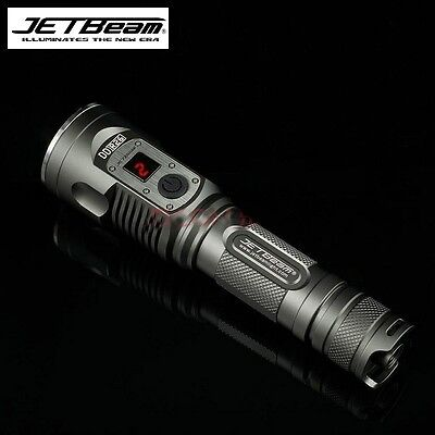 JETBeam USB Rechargeable DDR26 Cree XM-L2 1000 Lumen LED Flashlight Torch Hiking
