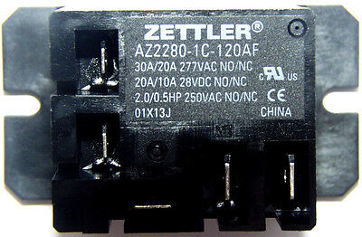 Zettler Mini Power Relay SPDT 120V 30A AZ2280-1C-120AF