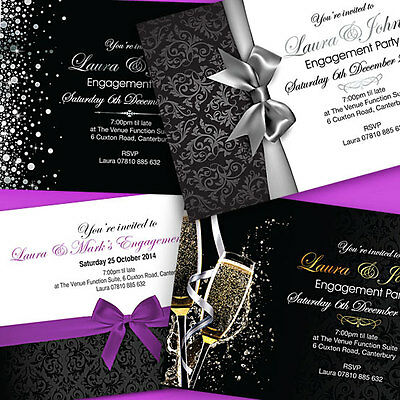 Personalised Engagement Invitations-Party Invites Free Envelopes
