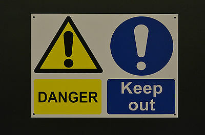 Danger Keep Out A4 Sign Or Sticker Building Construction Site Works Multi-Sign