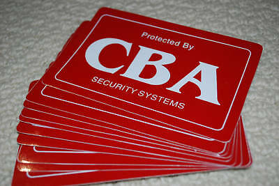 10 SECURITY BURGLAR ALARM DECALS STICKERS AUTHENTIC