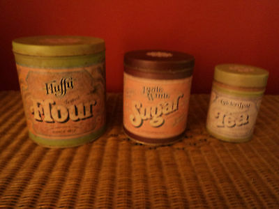 RUSTIC KITCHEN BALLONOFF SET OF 3 METAL CANISTERS