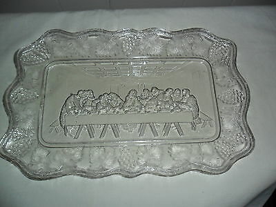 EAPG 1888 Lord's Supper Model Glass Company Bread Plate