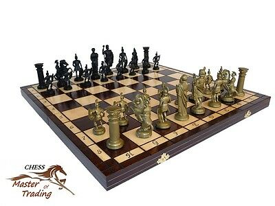 ''sparta'' Decorative Wooden Chess Set 50X50! Great Chessboard Weighted Pieces!