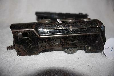 O GAUGE JOB LOT x 2 tin plate old loco bodys 1 clockwork motor   [k2558]
