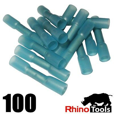 2.5mm² Blue  Heat Shrink Butt Connector Glue filled Electrical Cable  Waterproof