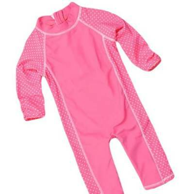 BNWT Pumpkin Patch Rash Suit Baby Girl Toddler Pink Long Sleeve 3 4  swimwear