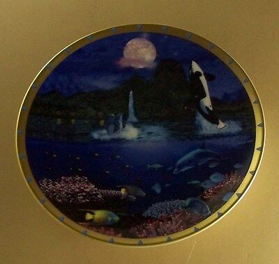 Moonlight Fantasy Plate Collection FESTIVAL OF THE MOON Lenox Fish Dolphin Whale