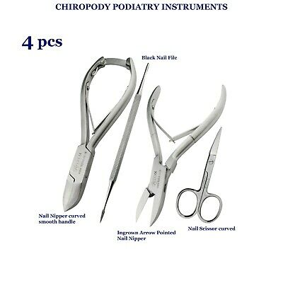 4PCs Podiatry Chiropody Instrument Nail Nipper Ingrown Heavy Duty Thick Toenails