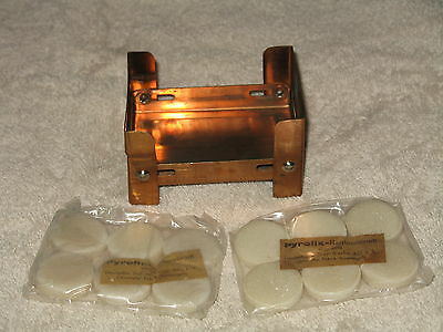 STOVE - POCKET - PLUS 12 HEAT TABS - GERMAN MILITARY - HARD TO GET COPPER PLATED