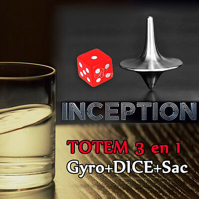 3 In 1 Inception Totem Inception Trottola Dado Totem Spinning Top + Dadi + Borsa