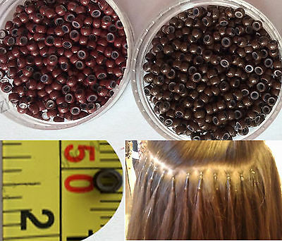 Silicone Nano Rings Beads for use with Nano Tip Hair Extensions