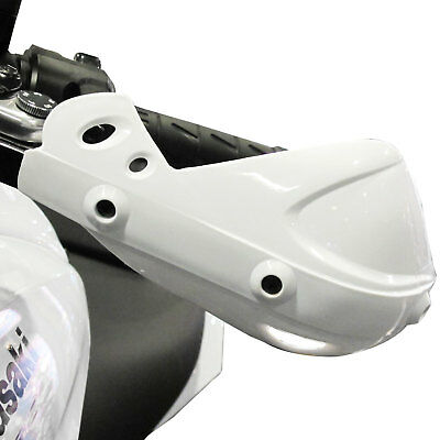 White Motocross Enduro Motorcycle Hand Control Brush Guards Universal