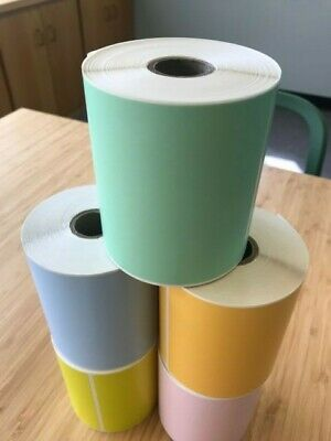 GREEN 4 Rolls 4x6 Direct Thermal Labels Rolls 250 / 1000. For Eltron Zebra 2844