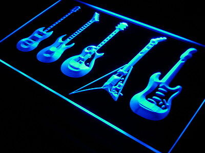 s091-b Guitars Weapon Band Bar Beer Neon Light Sign