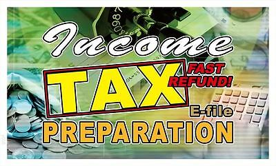 y055 Income Tax Preparation Fast Refund Banner Sign