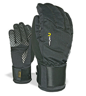 LEVEL SWITCH snow gloves with FR BioMex Wrist Gd. Black - 9.0 - Large