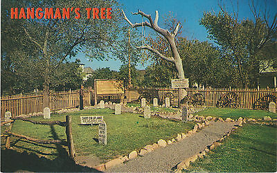 Hangman's Tree in Boot Hill Cemetery at Dodge City Kansas - 1950's/60's Postcard