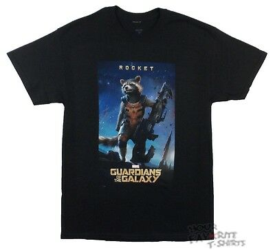 Guardians Of The Galaxy Rocket Poster Marvel Comics Licensed Adult T-Shirt