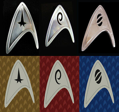 Star Trek Starfleet Command/Science/Operation Division Badge Pin Badge Cosplay