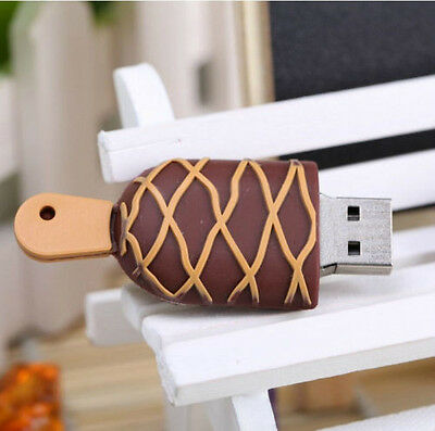 New 8GB Ice-cream Model USB 2.0 Memory Flash Stick Pen Drive as Gift