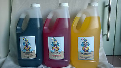 3x2ltr Ready-to-Use Syrup (RTU) Snow Cone, and Shaved Ice Syrup FREE DELIVERY