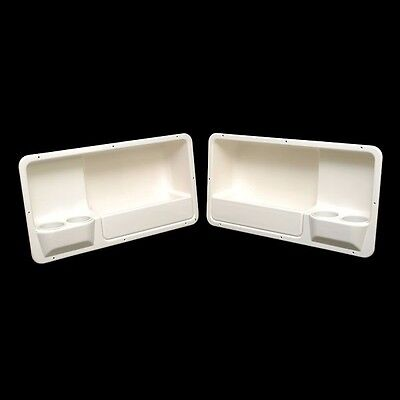 Ssi Off White Plastic Boat Storage Coaming Box / Panel W/ Cupholders 49260112