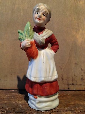 "Old Woman 5"" Tall Bisque Figurine, Gardening **PRICE REDUCED**"