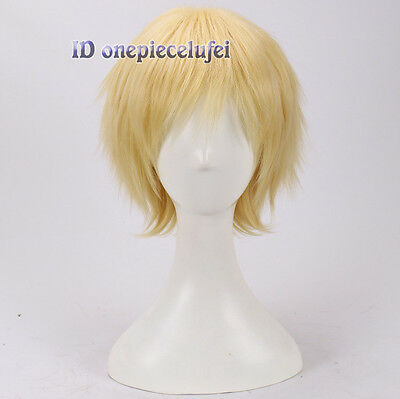 Homestuck Dave Strider Short Yellow Blonde Anime Cosplay Wig +A wig cap