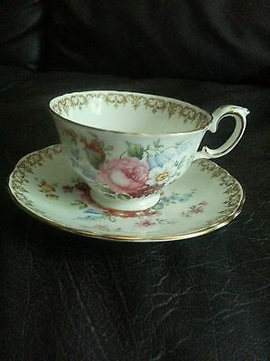 CUP AND SAUCER BY CROWN STAFFORDSHIRE