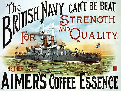 Aimers Coffee Essence (British Navy) Metal Sign 400mm x 300mm (og)