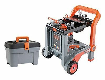 Black & Decker Devil Workmate 3-In-1 Childrens Workbench Trolley With Tool Box