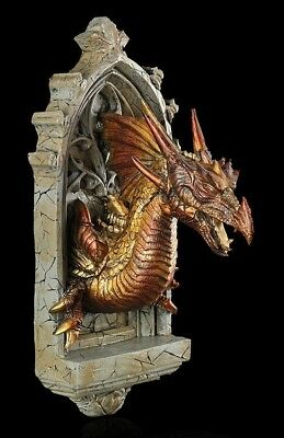 Alchemy The Vault - Drachen Wandrelief - Fantasy Gothic Dragon Mittelalter