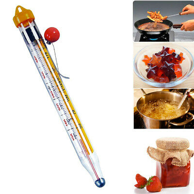 Kitchen Thermometer Cooking Jam Sugar Candy 22CM Deep Fry Temperature Read Stick