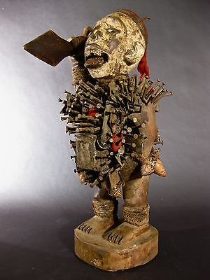 "Outsanding Power Figure ""nkisi"" Tribal Kuba D.r. Congo Africa"