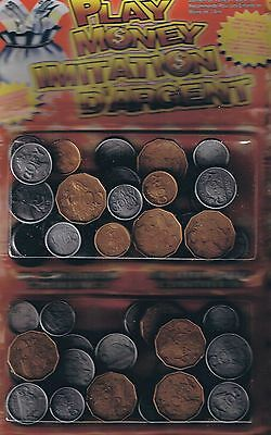 Canada  Plastic Coins - Assorted - Play Money - Canadian - Unopened Package