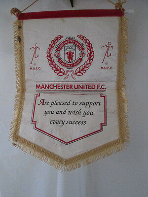 Manchester United 1993 First Premier League winner Squad Signed Pennant COA /bi