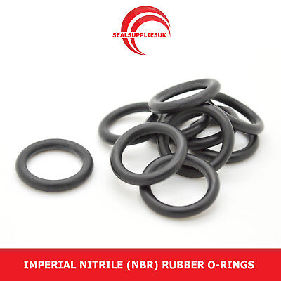 Imperial Nitrile Rubber O Rings 1.78mm Cross Section BS004-BS031 - UK SUPPLIER