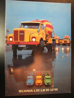 Brochure Scania L111 - LS111 - LT111 (Nederlands) 1979