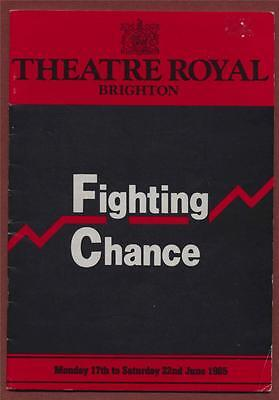 Brighton  'Fighting Chance' 1985 Elizabeth Quinn. Deaf actress. Theatre  + h127