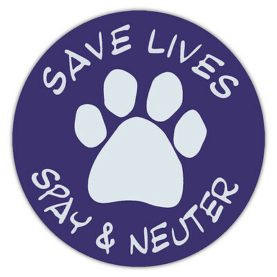 """4.75"""" Round Pet Magnets: SAVE LIVES SPAY & NEUTER (DOGS, CATS) 
