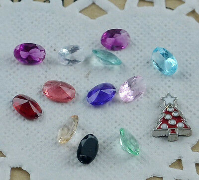 hot! 13pcs Floating Charm for Glass Living Memory Locket Mix  S-169