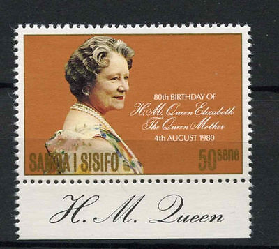 Samoa 1980 SG#572 The Queen Mothers 80th Birthday MNH + Tab #A75779