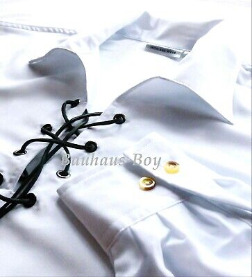 Luxury Jacobite Ghillie Shirt White Size 4Xl Peached Soft Touch For Kilts New