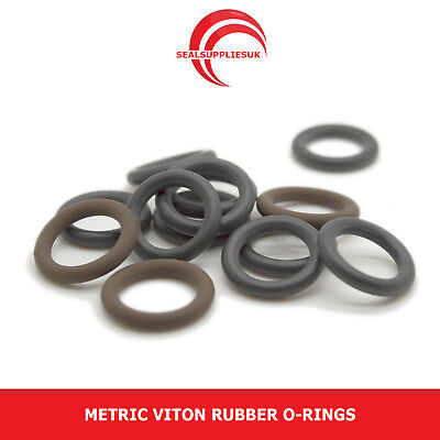 Metric Viton Rubber O Rings 1mm Cross Section 37mm-65mm ID - UK SUPPLIER