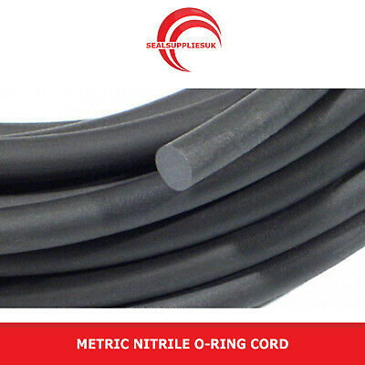 LOW PRICE - Metric Nitrile O Ring Cord Sold by the metre - Various Sizes