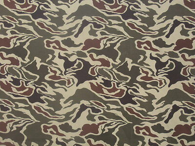 Korea Army Special Force Camouflage Fabric 1970's Us Army Green Beret