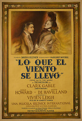 Gone with the Wind 1939 Original Argentina Poster